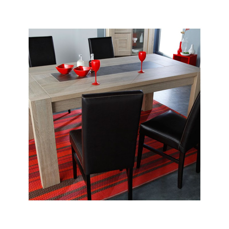 Table de repas allonge bois ch ne brut athias univers for Table en chene brut