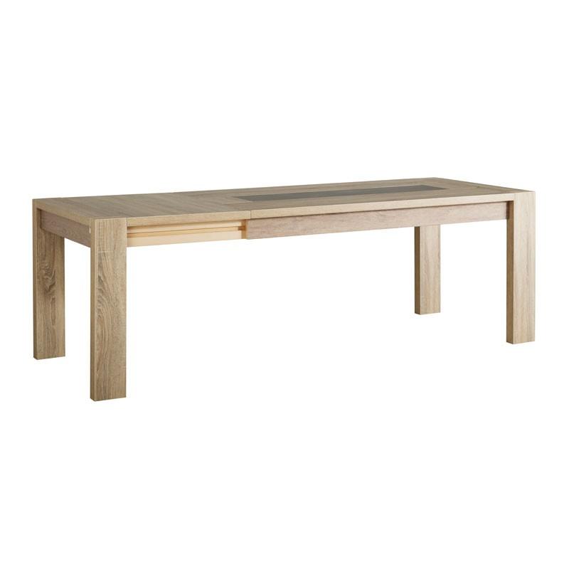 Table de repas allonge bois ch ne brut athias univers for Table a manger bois brut