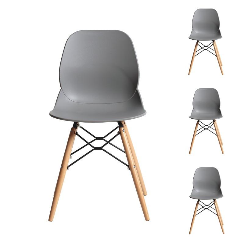 Quatuor de chaises Grises - BURI