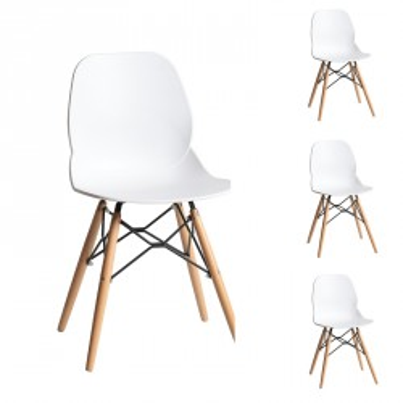 Quatuor de chaises Blanches - BURI