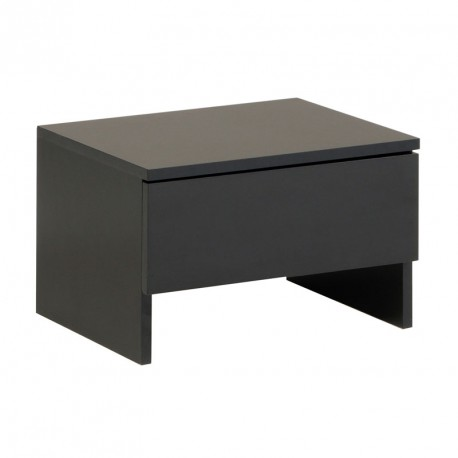 table de chevet 1 tiroir bois noir carlack univers chambre. Black Bedroom Furniture Sets. Home Design Ideas