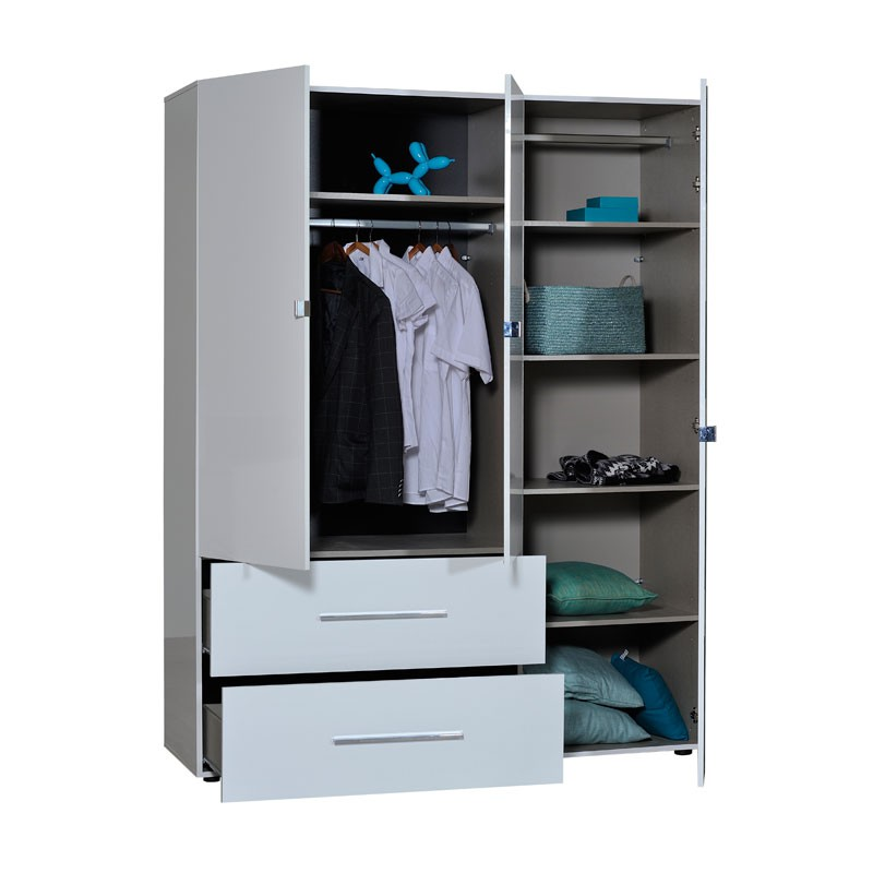 armoire chambre blanche finest afin duajouter une touche lgante un meuble armoire ikea blanc. Black Bedroom Furniture Sets. Home Design Ideas