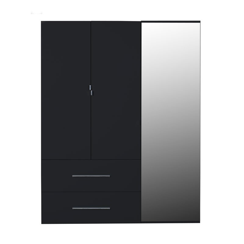 armoire 2 portes noire maison design. Black Bedroom Furniture Sets. Home Design Ideas