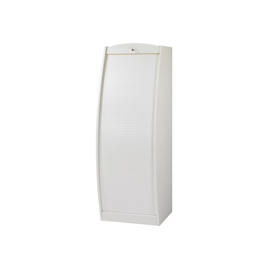 Colonne informatique rideau blanc taille m info for Bureau colonne