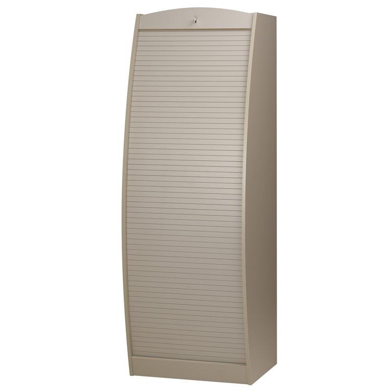 Colonne informatique à rideau Taupe taille M - INFO