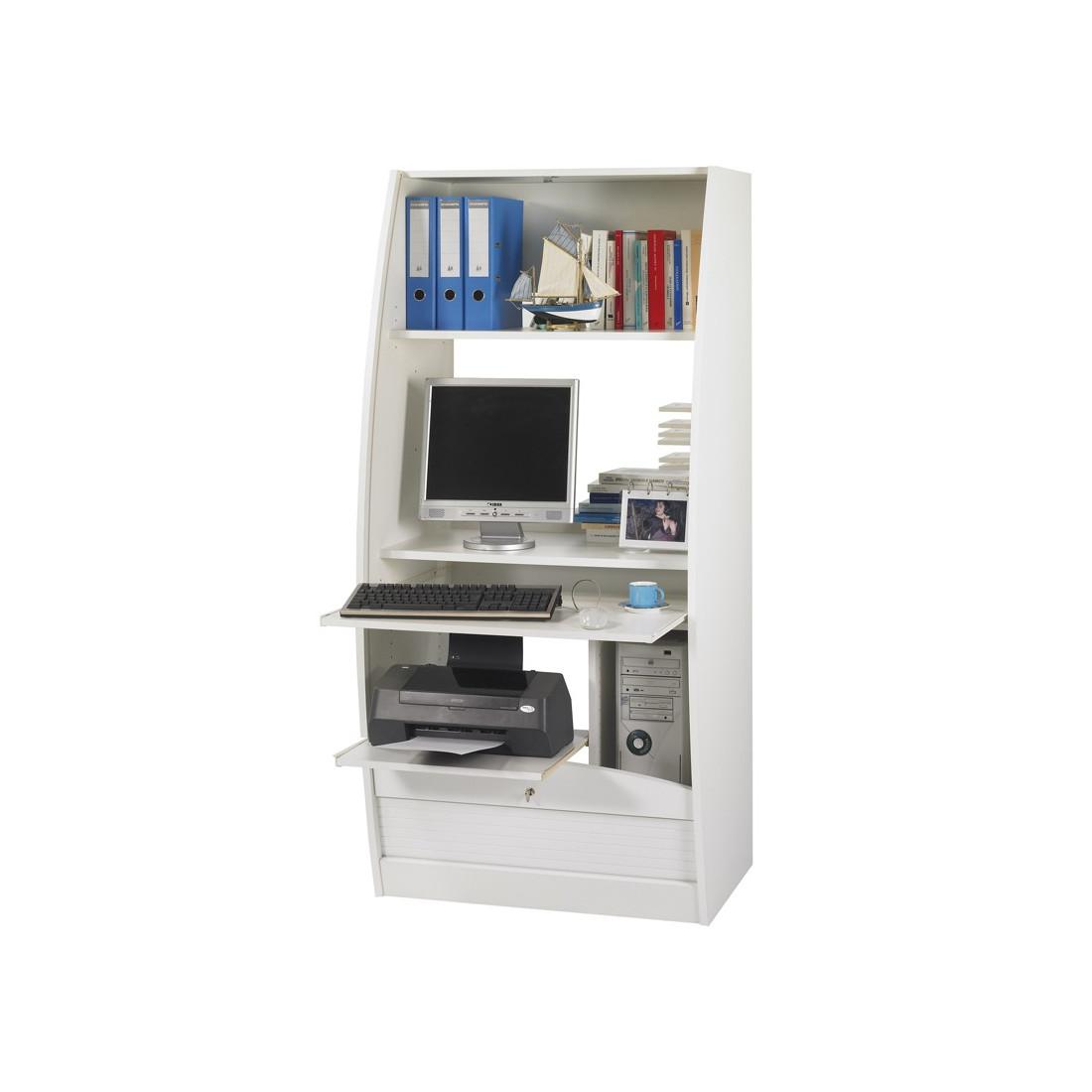 Colonne informatique rideau blanc taille l info for Colonne bureau