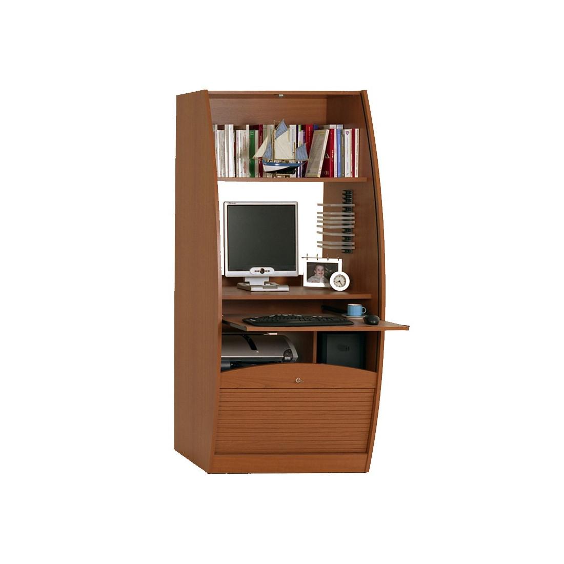 colonne informatique rideau merisier taille l info univers du bureau. Black Bedroom Furniture Sets. Home Design Ideas