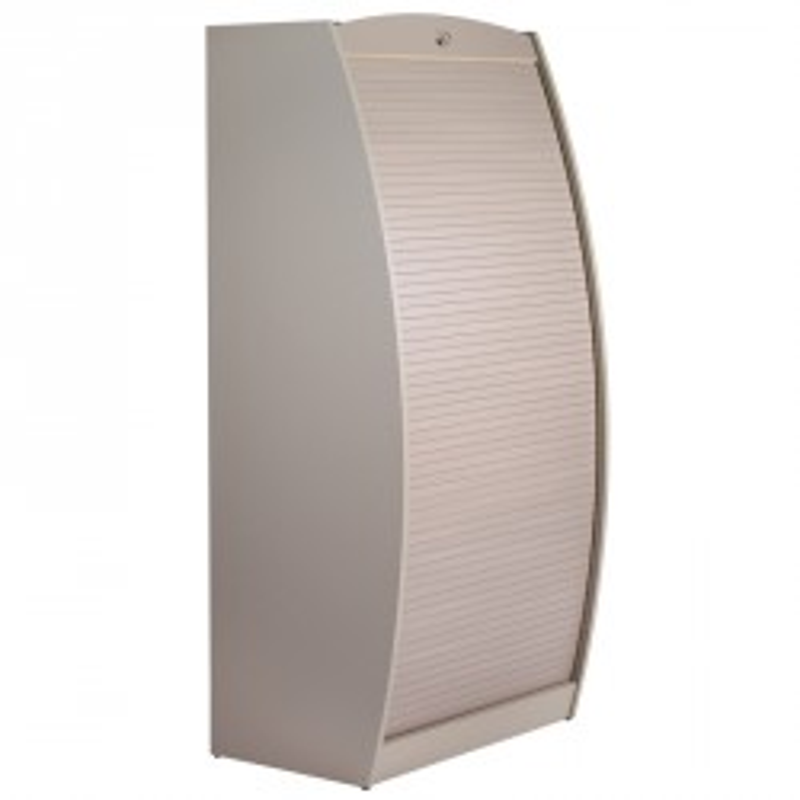 Colonne informatique à rideau Taupe taille L - INFO