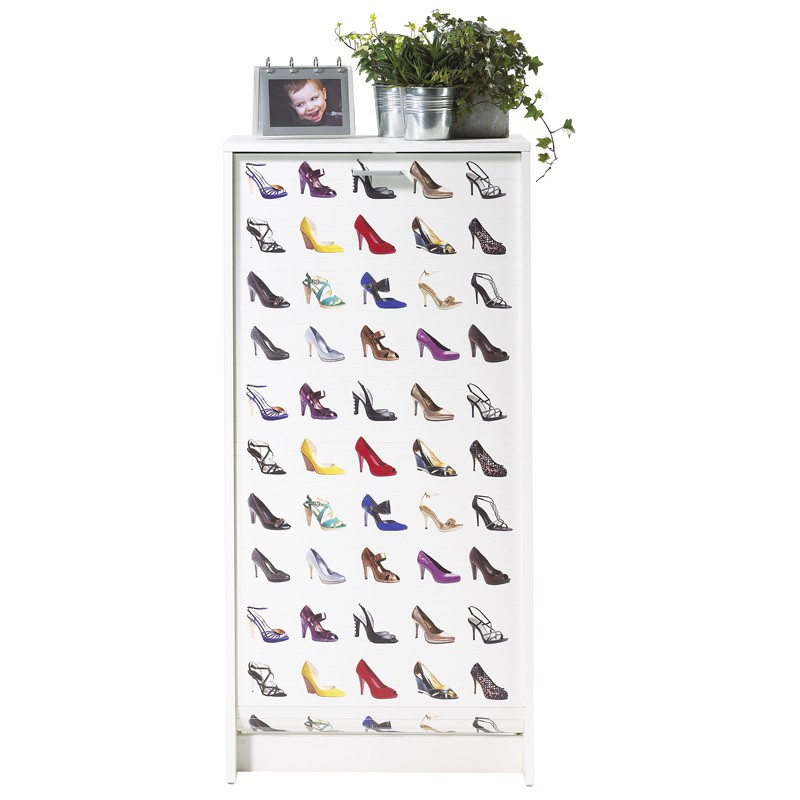 Meuble chaussures rideau blanc couleur shoes n 1 - Fabrication meuble a chaussure ...