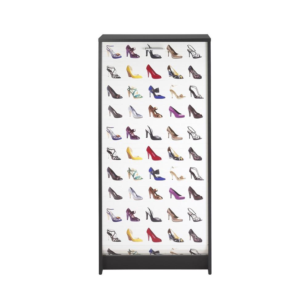 Meuble à chaussures à rideau Noir - SHOES n°1