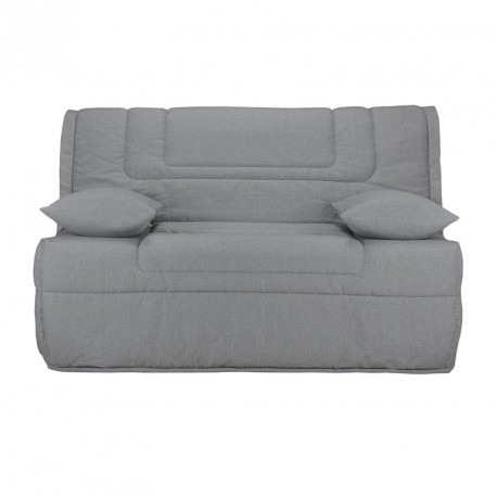 banquette lit bz microfibre gris uni matelas bultex 140 cm speed bolo. Black Bedroom Furniture Sets. Home Design Ideas