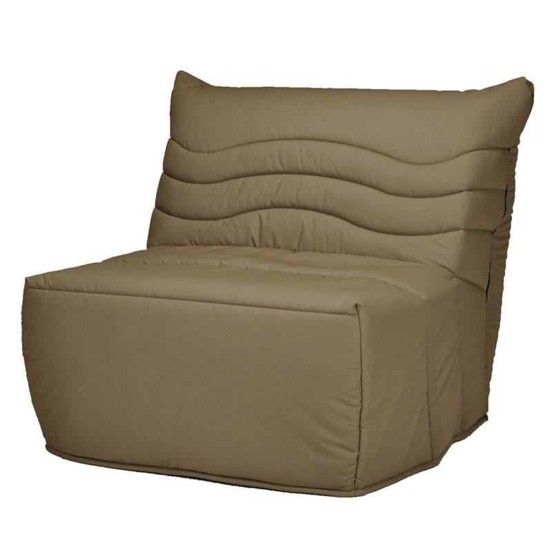 Banquette-lit BZ 90*190 - convertible tissu marron - Univers Salon et Assises : Tousmesmeubles