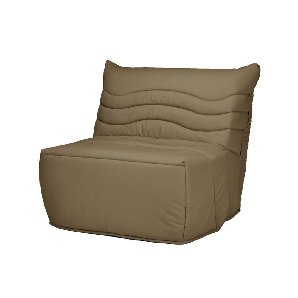 fauteuil lit bz tissu marron uni 1place matelas hr 90 cm speed rico. Black Bedroom Furniture Sets. Home Design Ideas