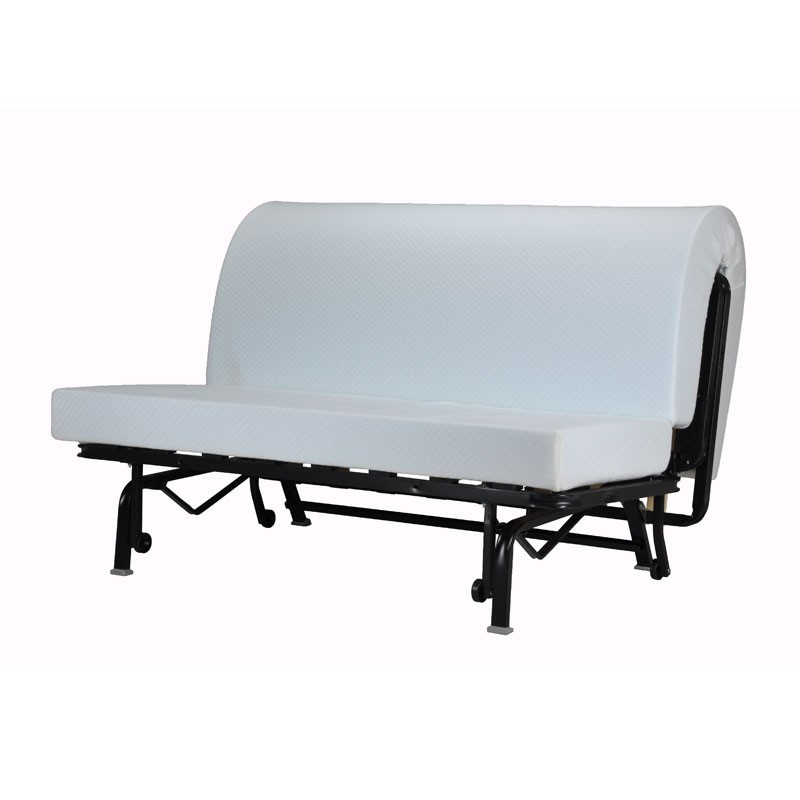 banquette lit bz gris et marron graph matelas hr 140 cm speed ticy n 4. Black Bedroom Furniture Sets. Home Design Ideas