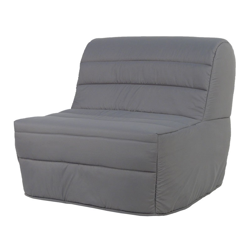 fauteuil lit bz microfibre grise moderne 9 cm matelas hr 90 cm elia n 3. Black Bedroom Furniture Sets. Home Design Ideas