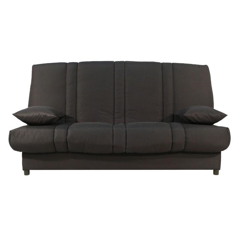 Banquette-lit clic-clac 130*190 cm - convertible tissu marron uni moderne - Univers Assises et Salon : Tousmesmeubles