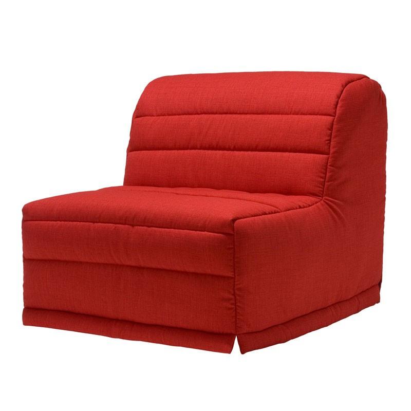 Banquette-lit BZ 90*190 cm - convertible tissu rouge moderne - Univers des Assises et du Salon : Tousmesmeubles
