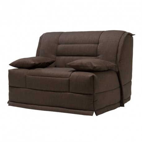 fauteuil lit bz microfibre chocolat uni matelas hr 120 cm. Black Bedroom Furniture Sets. Home Design Ideas