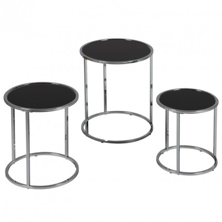 Set de 3 tables gigognes - KAREL