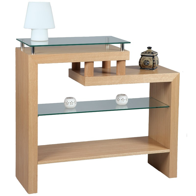 soldes console en bois de ch ne oaked l 105. Black Bedroom Furniture Sets. Home Design Ideas