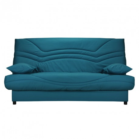 banquette lit clic clac tis turquoise matelas hr 130 cm. Black Bedroom Furniture Sets. Home Design Ideas