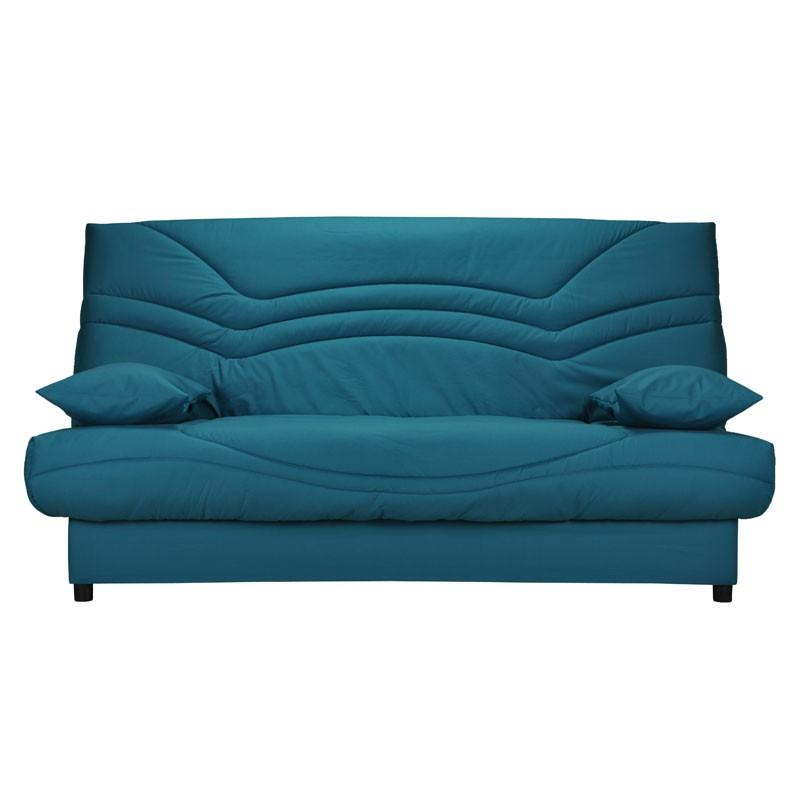 banquette lit clic clac tis turquoise matelas hr 130 cm speed tsar n 8. Black Bedroom Furniture Sets. Home Design Ideas