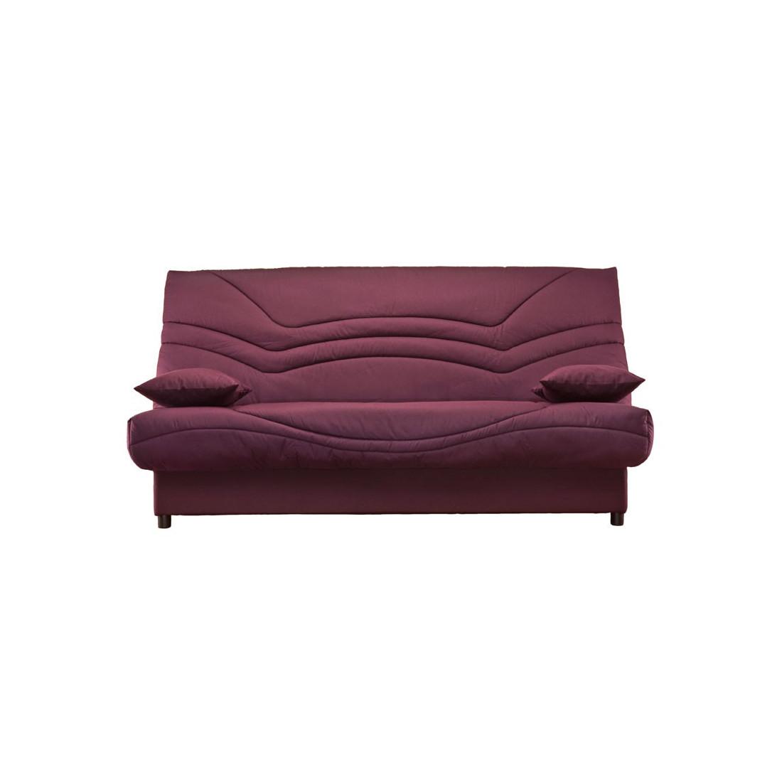 banquette lit clic clac tis bordeaux matelas hr 130 cm speed tsar n 10. Black Bedroom Furniture Sets. Home Design Ideas