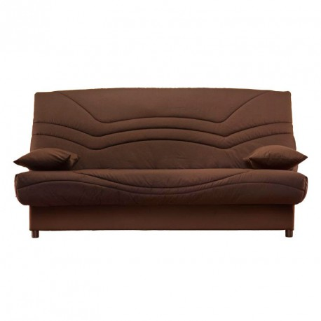 banquette lit clic clac chocolat uni matelas hr 130 cm speed tsar n 18. Black Bedroom Furniture Sets. Home Design Ideas