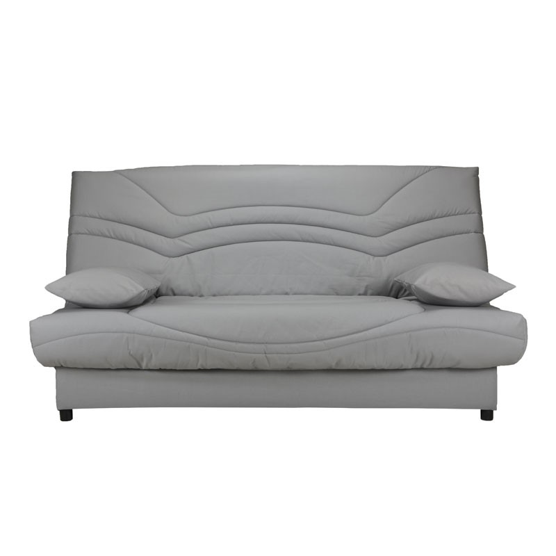 banquette lit clic clac gris clair matelas hr 130 cm speed. Black Bedroom Furniture Sets. Home Design Ideas