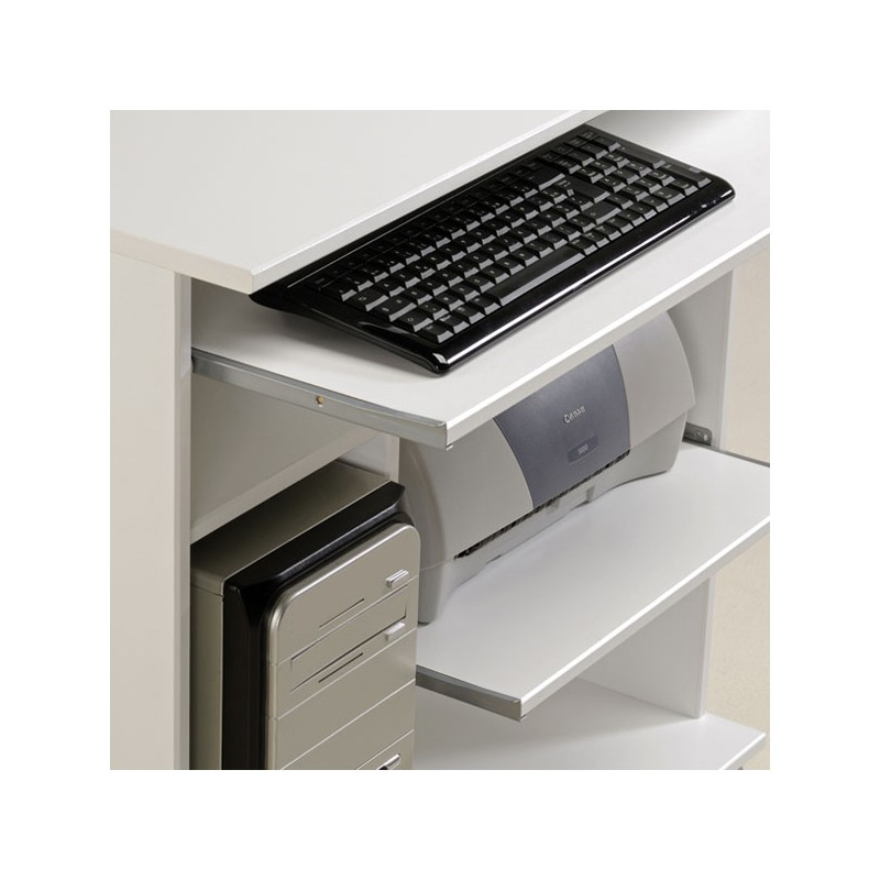 bureau informatique bois blanc brillant sample univers bureau. Black Bedroom Furniture Sets. Home Design Ideas