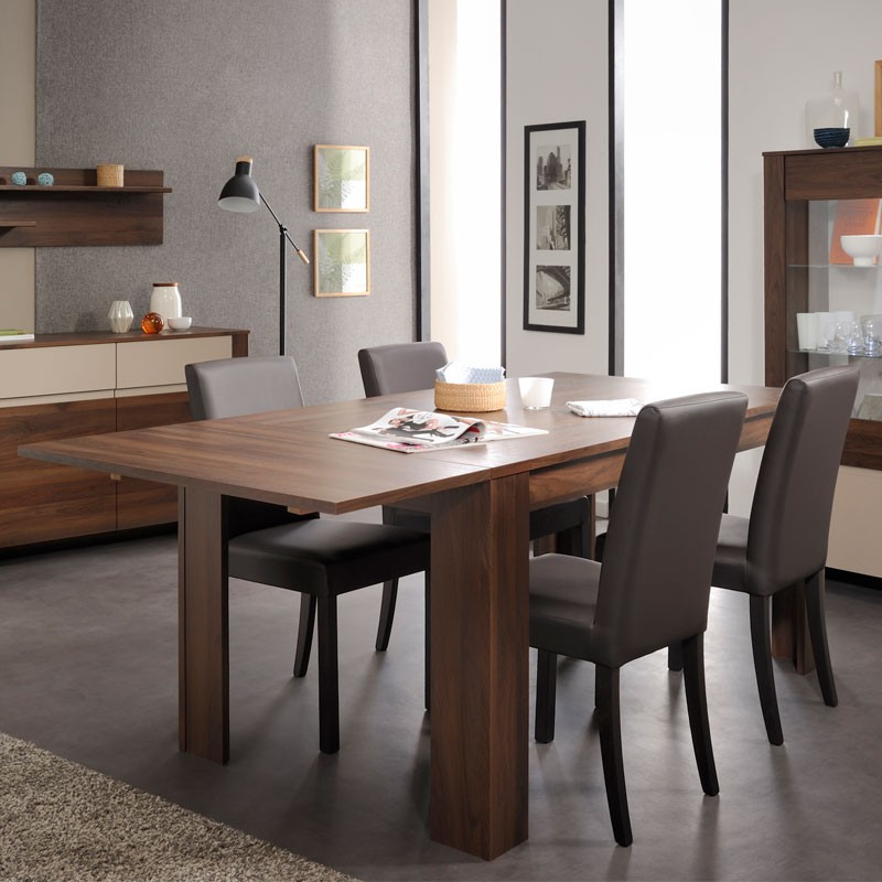 table de repas ton noyer allonge gringo univers salle. Black Bedroom Furniture Sets. Home Design Ideas