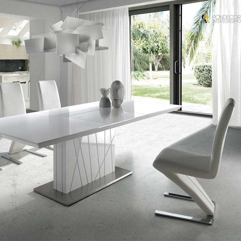 duo de chaises blanches zaia univers salle manger tousmesmeubles. Black Bedroom Furniture Sets. Home Design Ideas