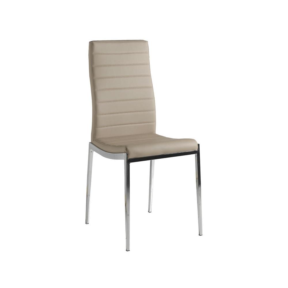 Quatuor de chaises Eco-cuir Cappuccino - VILMA
