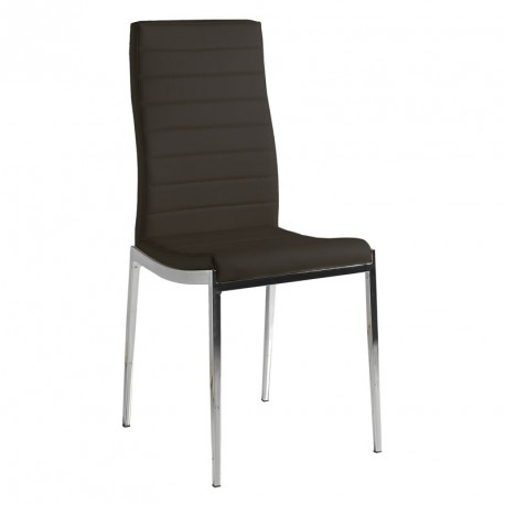 Quatuor de chaises Eco-cuir Noir - VILMA