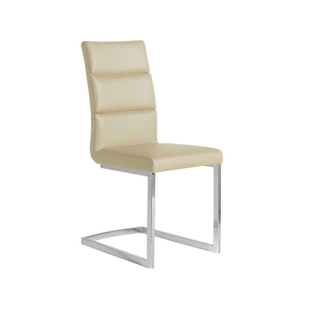 Quatuor de chaises Eco-cuir Beige - LONI