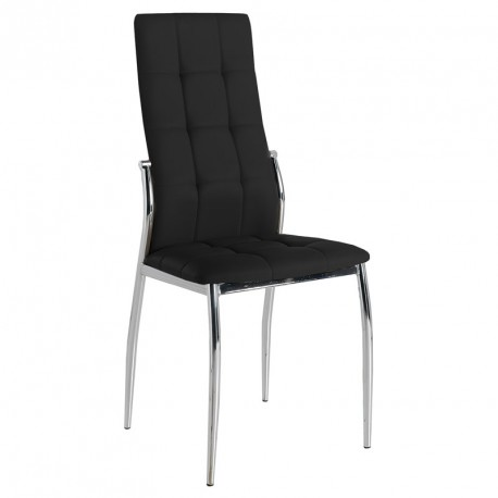 Quatuor de chaises Eco-cuir Noir - CALAS