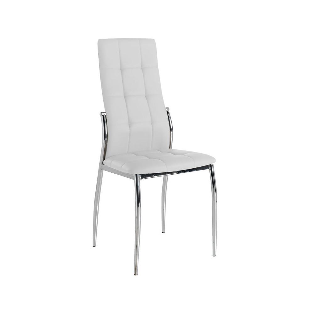Quatuor de chaises Eco-cuir Blanc - CALAS