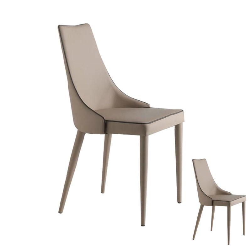 Duo de chaises Eco-cuir Beige - GALVO