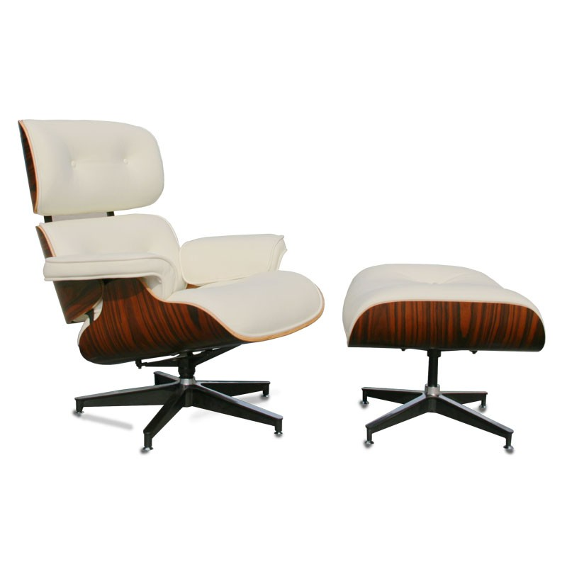 fauteuil cuir blanc bois design chic moderne evans univers des assises. Black Bedroom Furniture Sets. Home Design Ideas