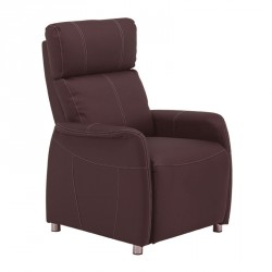 Fauteuil Relax Eco-cuir Marron - LONIS