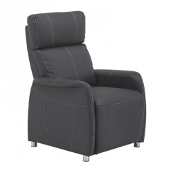 Fauteuil Relax Eco-cuir Gris - LONIS