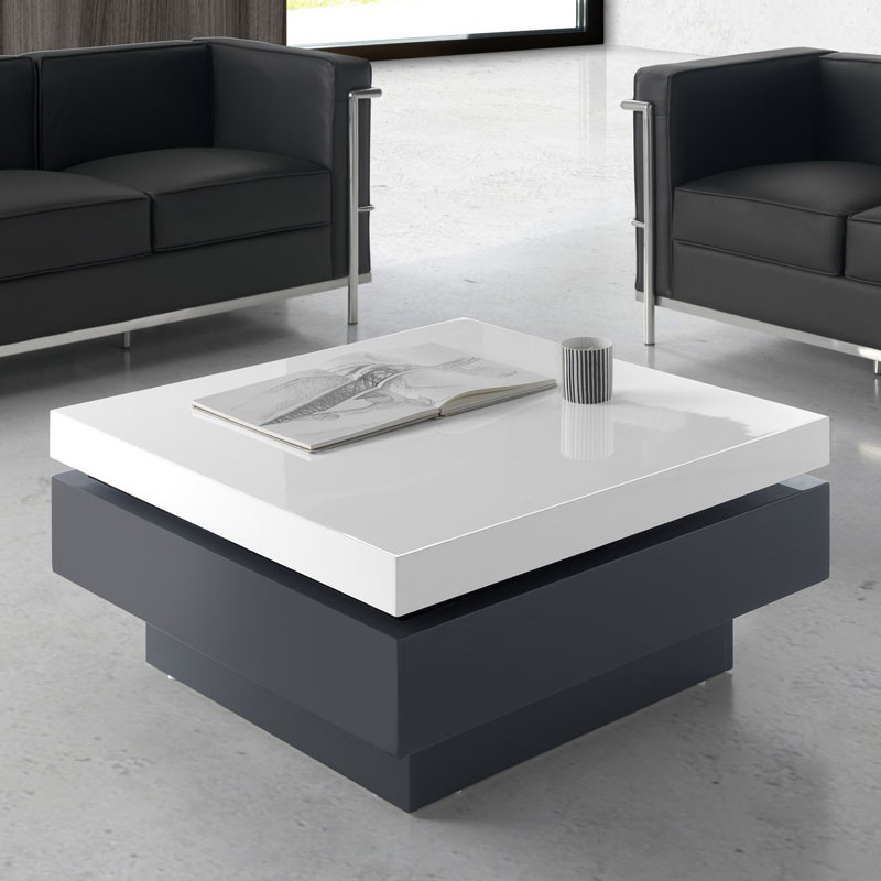 Table basse plateaux pivotants latest table basse design - Table basse pivotant ...