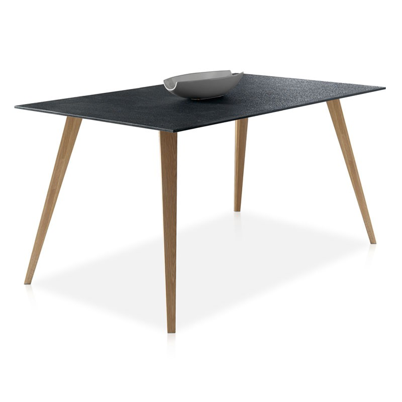 Table de repas plateau imitation pierre pierra univers for Table repas