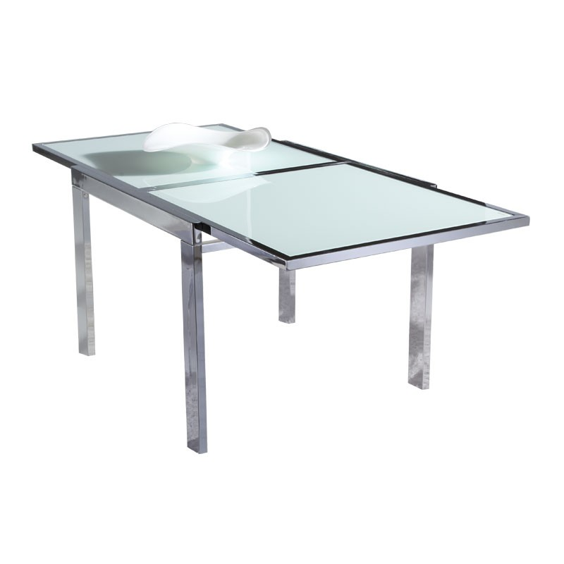 Table de repas extensible en verre marpa univers de la for Table de cuisine extensible