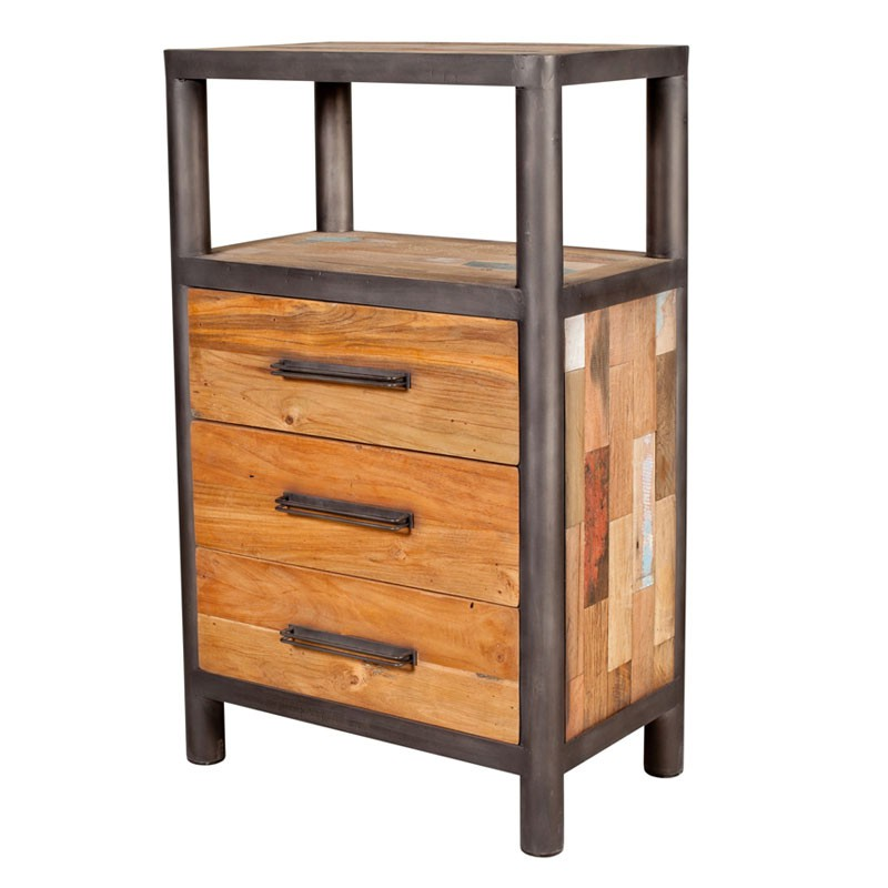 chiffonnier 3 tiroirs 1 niche bois modernity univers. Black Bedroom Furniture Sets. Home Design Ideas
