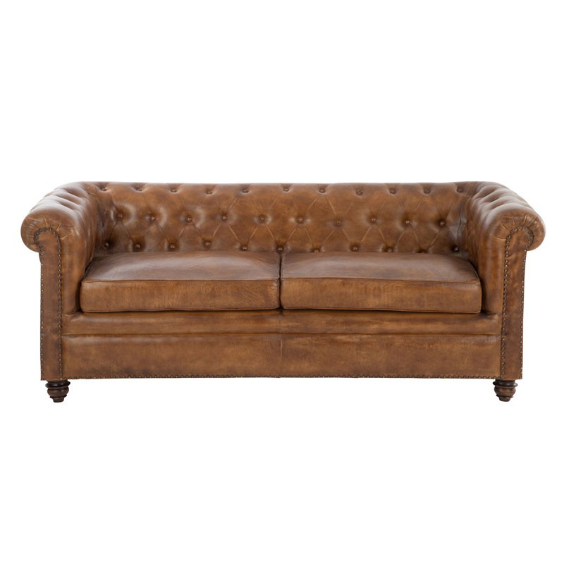 Canap chesterfield cuir fieldman univers du salon et chesterfield - Canape cuir cognac ...