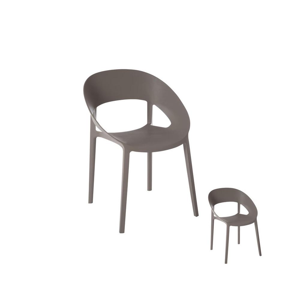 Duo de chaises Gris Ambiance contemporaine en plastique - Univers des Assises : Tousmesmeubles