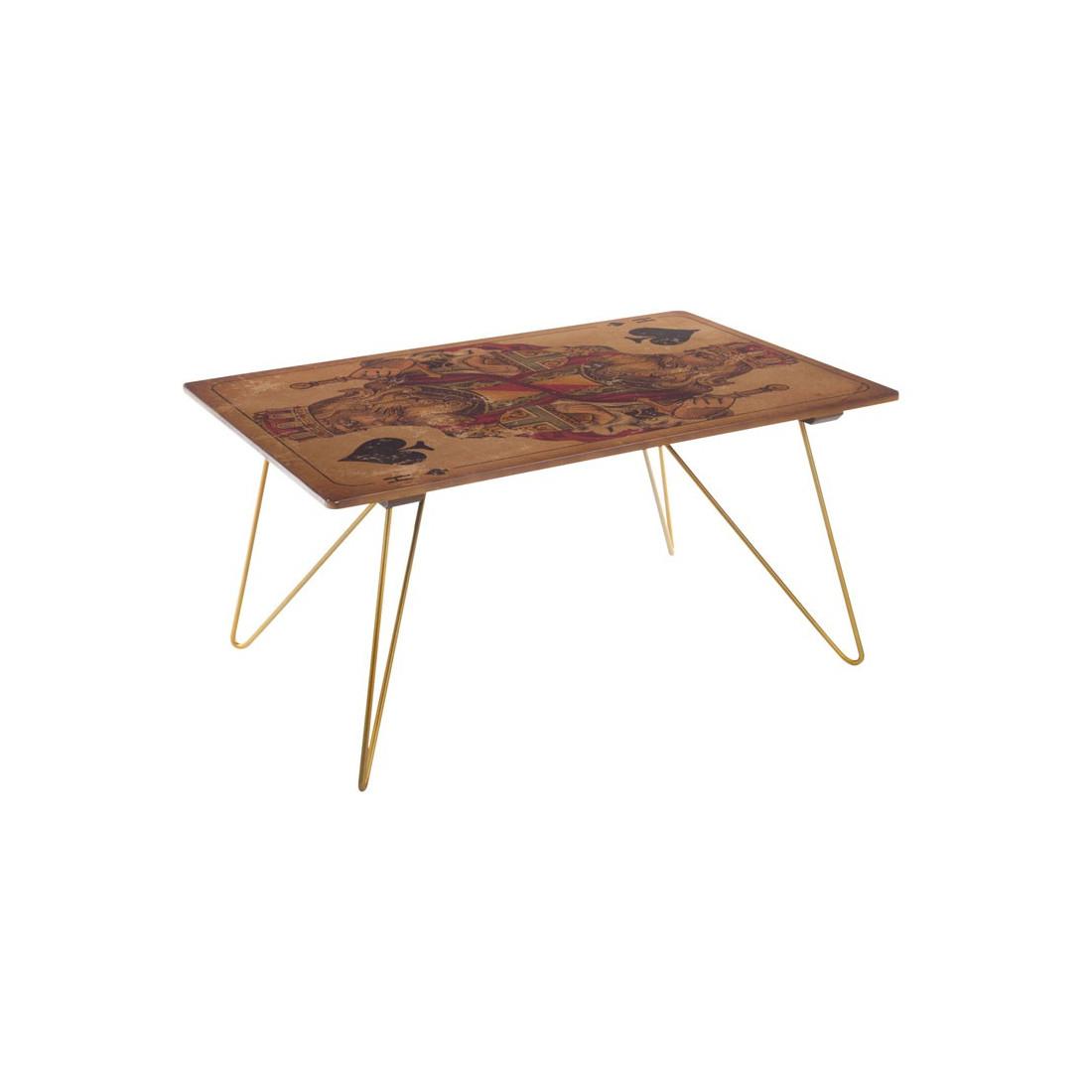 Table haute de compl ment roi de pique card univers du salon - Table haute d appoint ...