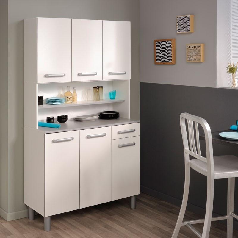 Buffet de cuisine rangement blanc - Univers Cuisine : Tousmesmeubles