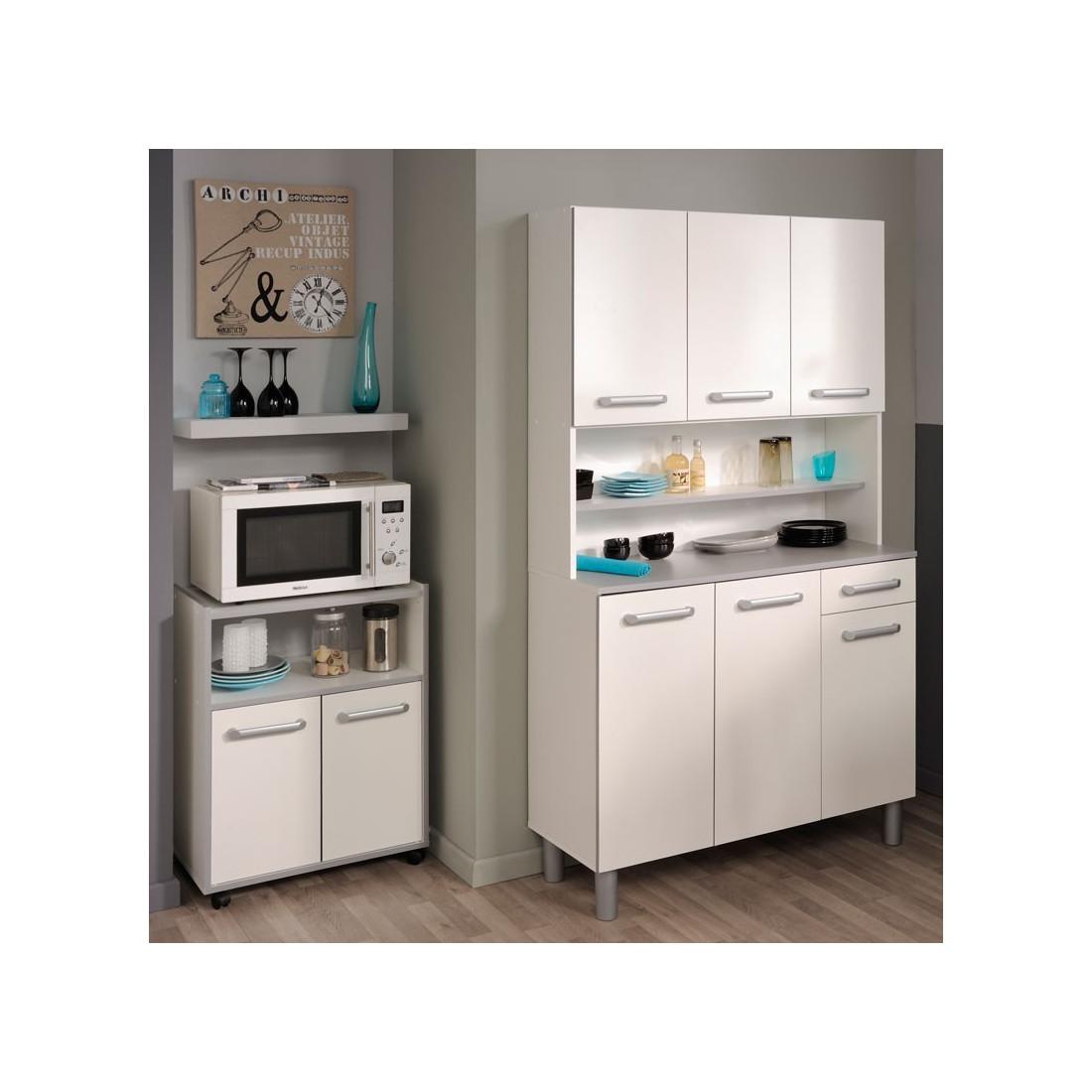 desserte de cuisine blanc brillant timy univers de la cuisine. Black Bedroom Furniture Sets. Home Design Ideas